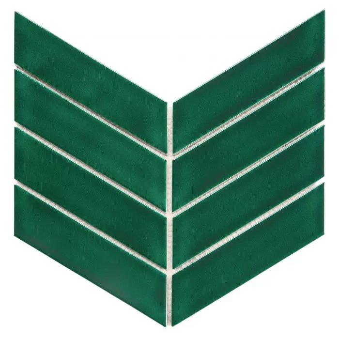 Elegancka zieleń – mozaika Royal Chevron Vert