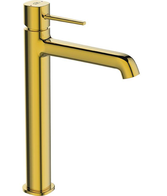 Seria baterii łazienkowych POLA w żółtym złocie