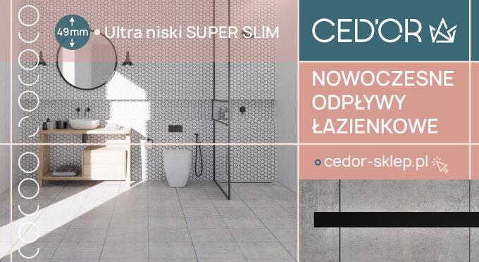 Odwodnienia do łazienki polski producent CED'OR