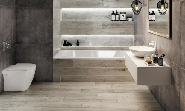 Beton i drewno - tegoroczne trendy w łazienkowych wnętrzach